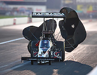 Sep 3, 2016; Clermont, IN, USA; NHRA top fuel driver Wayne Newby during qualifying for the US Nationals at Lucas Oil Raceway. Mandatory Credit: Mark J. Rebilas-USA TODAY Sports