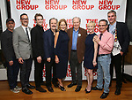 "Scott Elliott, Sharr White, Austin Caldwell, John Pankow, Edie Falco, Michael McKean, Tracy Shayne, Peter Scolari and Glenn Fitzgerald attends the New Group World Premiere of ""The True"" on September 20, 2018 at The Green Fig Urban Eatery in New York City."