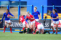 Keira Bevan of Wales in action during the Women's Six Nations Championship Round 3 match between Wales and France at the Cardiff Arms Park in Cardiff, Wales, UK. Sunday 23 February 2020