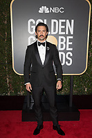 Milo Ventimiglia arrives at the 75th Annual Golden Globe Awards at the Beverly Hilton in Beverly Hills, CA on Sunday, January 7, 2018.<br /> *Editorial Use Only*<br /> CAP/PLF/HFPA<br /> &copy;HFPA/Capital Pictures