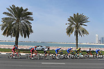 The peloton in action during Stage 5 The Meraas Stage final stage of the Dubai Tour 2018 the Dubai Tour&rsquo;s 5th edition, running 132km from Skydive Dubai to City Walk, Dubai, United Arab Emirates. 10th February 2018.<br /> Picture: LaPresse/Fabio Ferrari | Cyclefile<br /> <br /> <br /> All photos usage must carry mandatory copyright credit (&copy; Cyclefile | LaPresse/Fabio Ferrari)
