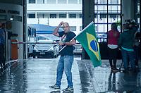 RIO DE JANEIRO,RJ, 08.11.2018 - PROTESTO-RJ - Subtenente Valdelei Duarte, exonorado do Corpo de Bombeiro pelo ex-governador Sérgio Cabral, realiza protesto em frente à sede da Policia Federal, na Manhã desta quinta-feira, 08 (Foto: Vanessa Ataliba/Brazil Photo Press)