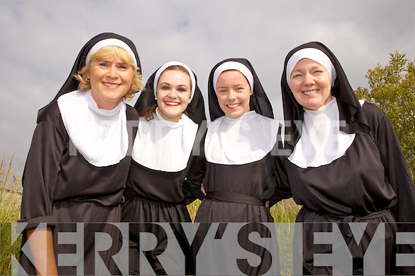 Geraldine Collins, Sinead Collins, Ciara O'Connor and Veronica O'Connor at the Nuns Run and Harlem Shake last Monday, all a part of the Gathering Festival, Abbeyfeale.