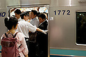 July 17th, 2012 : Tokyo, Japan - Trains on the way home from Tokyo are always full of people. (Photo by Yumeto Yamazaki/AFLO)