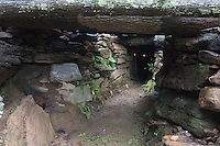 A root cellar was excavated 8 feet below ground and is used to store olive oil, wine and other liquids to prevent them freezing during the winter