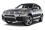 Stock pictures of low aggressive front three quarter view of 2017 BMW X3 xDrive28d 5 Door SUV Low Aggressive