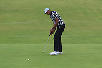 Tony Finau (USA) on the 11th during 1st round of the 148th Open Championship, Royal Portrush golf club, Portrush, Antrim, Northern Ireland. 18/07/2019.<br /> Picture Thos Caffrey / Golffile.ie<br /> <br /> All photo usage must carry mandatory copyright credit (© Golffile | Thos Caffrey)