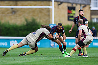 Craig Holland of London Scottish in action during the Greene King IPA Championship match between London Scottish Football Club and Doncaster Knights at Richmond Athletic Ground, Richmond, United Kingdom on 30 September 2017. Photo by Jason Brown / PRiME Media Images.
