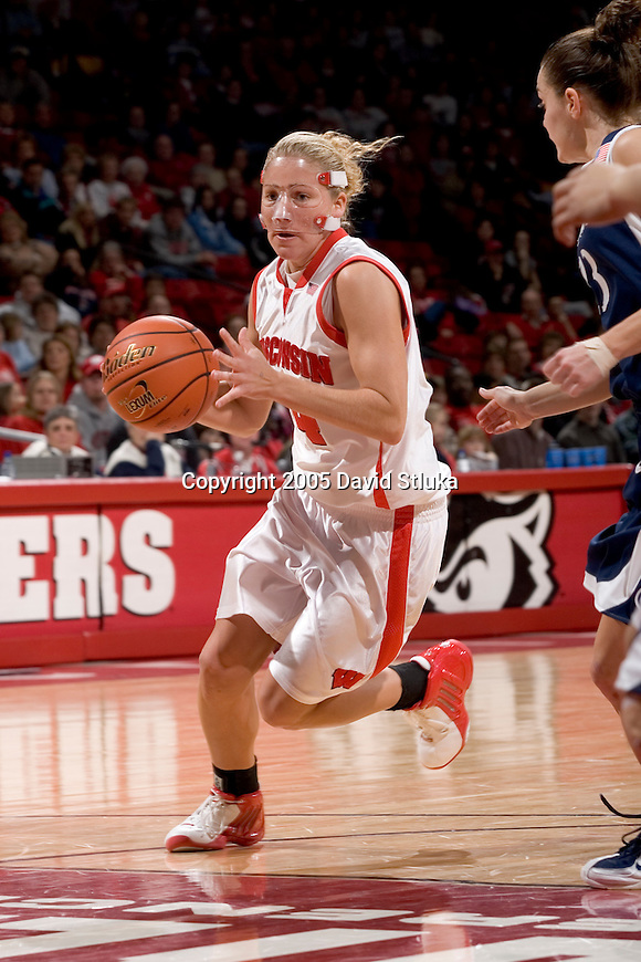 MADISON, WI - JANUARY 8:  Guard Ashley Josephson #14 of the Wisconsin Badgers during the game against the Penn State Nittany Lions at the Kohl Center on January 8, 2005 in Madison, Wisconsin. The Nittany Lions beat the Badgers 67-58. Photo by David Stluka