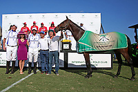 WELLINGTON, FL - MARCH 26: Chocolate, played by Adolfo Cambiaso and owned by J5 Equestrian is Best Playing Pony, as Valiente wins the 2nd Jewel of the Triple Crown, in the 26 goal USPA Gold Cup Final, defeating Coca Cola 9-6, at the International Polo Club, Palm Beach on March 26, 2017 in Wellington, Florida. (Photo by Liz Lamont/Eclipse Sportswire/Getty Images)