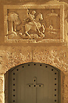 Bethlehem, a frieze depicting St. George killing the dragon at the Church of the Nativity