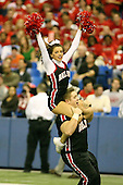 January 5th, 2008:  Ball State cheerleaders perform in the end zone after a touchdown during the fourth quarter of the International Bowl at the Rogers Centre in Toronto, Ontario Canada...Rutgers defeated Ball State 52-30.  ..Photo By:  Mike Janes Photography