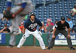 Reno Aces' Juan Rivera on the bases during a Triple-A baseball game against the Las Vegas 51s in Reno, Nev., on Sunday, July 21, 2013. The 51s won 15-8.<br /> Photo by Cathleen Allison