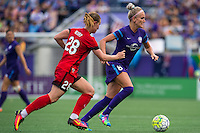 Orlando, FL - Sunday June 26, 2016: Amandine Henry, Kaylyn Kyle  during a regular season National Women's Soccer League (NWSL) match between the Orlando Pride and the Portland Thorns FC at Camping World Stadium.