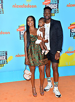 SANTA MONICA, USA. July 11, 2019: Gabrielle Union, Dwyane Wade & Kaavia James Union Wade at Nickelodeon's Kids' Choice Sports Awards 2019 at Barker Hangar.<br /> Picture: Paul Smith/Featureflash