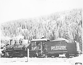 RGS K-27 #461 with Sunrise lettering on tender possibly at Rico.<br /> RGS  Rico ?, CO