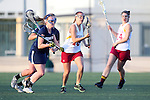 Santa Barbara, CA 02/18/12 - Jordan Haws (BYU #17) and Sandra Syntax (Arizona State #16) in action during the Arizona State vs BYU matchup at the 2012 Santa Barbara Shootout.  BYU defeated Arizona State 10-8.