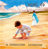 Donald, EASTER RELIGIOUS, paintings, Footprints in the sand, USZO69,#er# Ostern, religiös, Pascua, relgioso, illustrations, pinturas