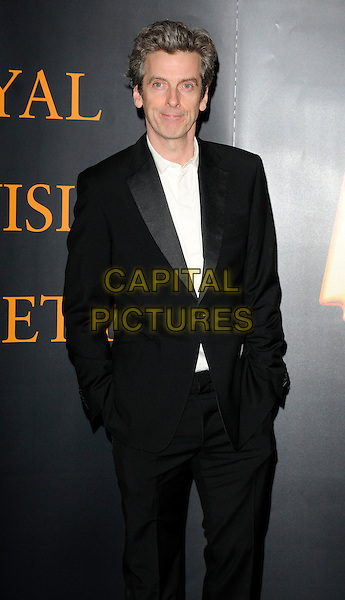 PETER CAPALDI.Royal Television Society Programme Awards held at the Grosvenor House Hotel, Park Lane, London, England..March 16th, 2010.RTS half 3/4 hands in pockets length black suit white shirt.CAP/CAN.©Can Nguyen/Capital Pictures.