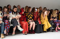 Rosie Fortescue, Georgia May Foote, Charlotte De Carle, Ella Eyre and Zara Martin<br /> at the Teatum Jones AW17 show as part of London Fashion Week AW17 at 180 Strand, London.<br /> <br /> <br /> &copy;Ash Knotek  D3230  17/02/2017