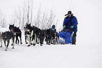 John Baker Arrives @ Kaltag Chkpt Iditarod 2005