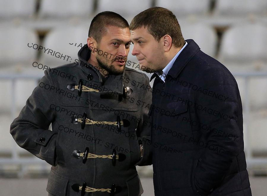 Fudbal Jelen Super League season 2015-2016<br /> Partizan v Borac (Cacak)<br /> Ivica Ilijev (L) and Milos Vazura<br /> Beograd, 16.12.2015.<br /> foto: Srdjan Stevanovic/Starsportphoto&copy;