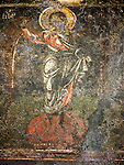 Ancient icon, Church of the 40 Martyrs of Sebaste, constructed in 1230 and the place of repose (death) of St. Sava in 1236.<br /> <br /> Veliko Tarnovo, Bulgaria
