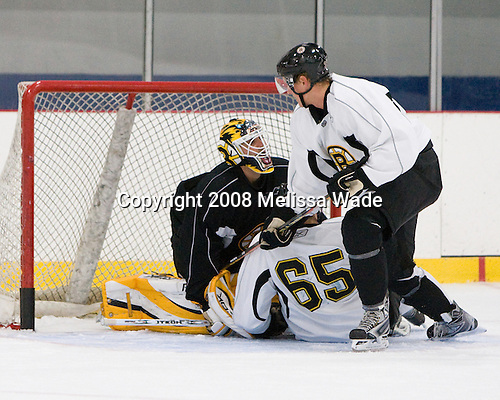 Manny Fernandez (35), Maxime Sauve (65), Mikko Lehtonen (39) - Prospects and free agent invitees took part in the final day of the 2008 Boston Bruins Development Camp on Saturday, July 12, 2008 at Ristuccia Arena in Wilmington, Massachusetts.