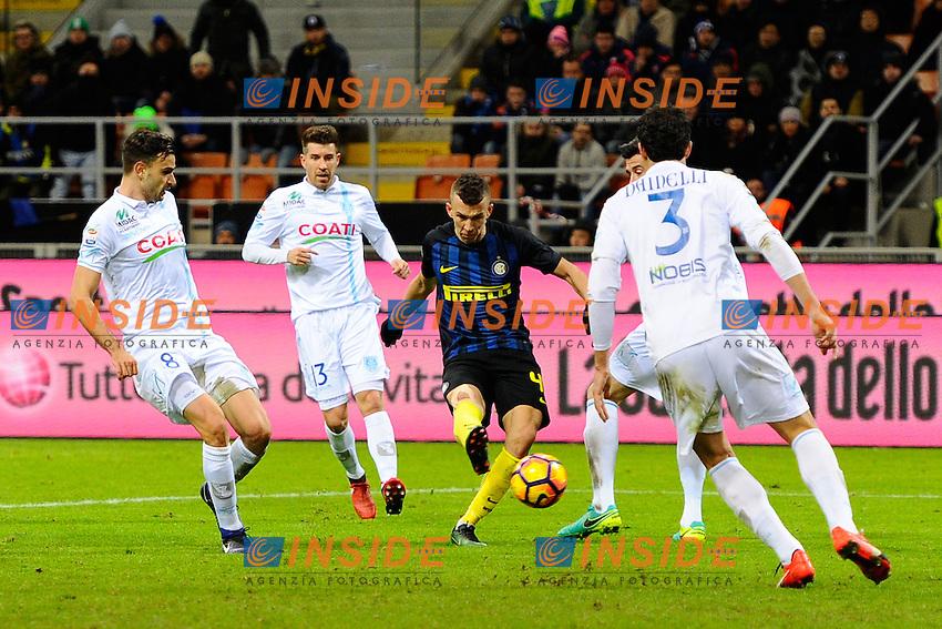 Gol di Ivan Perisic Inter 2-1. Celebration goal<br /> Milano 14-01-2017 Stadio Giuseppe Meazza - Football Calcio Serie A Inter - Chievo Verona. Foto Giuseppe Celeste / Insidefoto