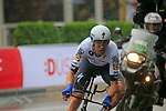 Jack Bauer (NZL) Quick-Step Floors in action during Stage 1, a 14km individual time trial around Dusseldorf, of the 104th edition of the Tour de France 2017, Dusseldorf, Germany. 1st July 2017.<br /> Picture: Eoin Clarke | Cyclefile<br /> <br /> <br /> All photos usage must carry mandatory copyright credit (&copy; Cyclefile | Eoin Clarke)