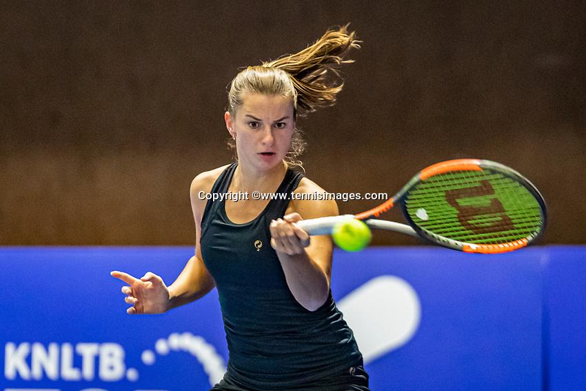 Alphen aan den Rijn, Netherlands, December 21, 2019, TV Nieuwe Sloot,  NK Tennis,  Quirine Lemoine  (NED)<br /> Photo: www.tennisimages.com/Henk Koster
