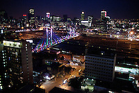 An overview of Braamfontein and downtown Johannesburg, South Africa. Adam Levy who was working in law, decided to buy a building ten years ago and he converted it into seven spacious floor-through apartments including his own duplex penthouse over looking Johannesburg and sized at 550 square meters. He has since then bought several buildings in the area and helped the area to be a lively spot. (Photograph by: Per-Anders Pettersson)