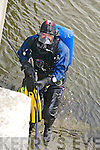 Murder Scene : Diver emerging from the water at the Ferry Bridge, Ballyduff.