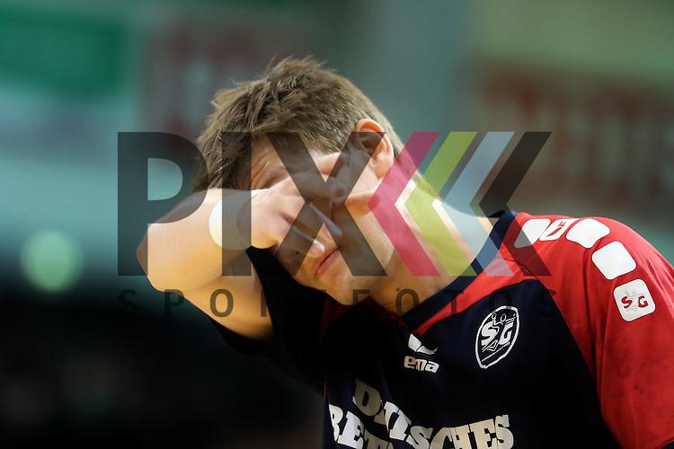 Flensburg, 05.04.2015, Sport, Handball, DKB Handball Bundesliga, Saison 2014/2015, GWD Minden - SG Flensburg-Handewitt : Lasse Svan (SG Flensburg-Handewitt, #11)<br /> <br /> Foto &copy; P-I-X.org *** Foto ist honorarpflichtig! *** Auf Anfrage in hoeherer Qualitaet/Aufloesung. Belegexemplar erbeten. Veroeffentlichung ausschliesslich fuer journalistisch-publizistische Zwecke. For editorial use only.