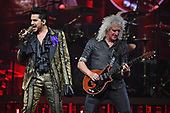 SUNRISE FL - AUGUST 17: Adam Lambert and Brian May of Queen + Adam Lambert perform at The BB&T Center on August 17, 2019 in Sunrise, Florida. Photo by Larry Marano © 2019