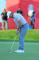 Lee Westwood (ENG) Team Europe takes his putt at the 18th green during Saturday Afternoon Fourball Matches of the 41st Ryder Cup, held at Hazeltine National Golf Club, Chaska, Minnesota, USA. 1st October 2016.<br /> Picture: Eoin Clarke | Golffile<br /> <br /> <br /> All photos usage must carry mandatory copyright credit (&copy; Golffile | Eoin Clarke)