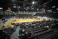 A general view of the national basketball league match between Wellington Saints and Manawatu Jets at TSB Bank Arena, Wellington, New Zealand on Tuesday, 7 May 2013. Photo: Dave Lintott / lintottphoto.co.nz