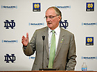 Sept. 12, 2012; Athletic Director Jack Swarbrick answers questions about Notre Dame's move to the Atlantic Coast Conference...Photo by Matt Cashore/University of Notre Dame