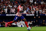Thomas Teye of Atletico de Madrid during La Liga match between Atletico de Madrid and Real Madrid at Wanda Metropolitano Stadium{ in Madrid, Spain. {iptcmonthname} 28, 2019. (ALTERPHOTOS/A. Perez Meca)