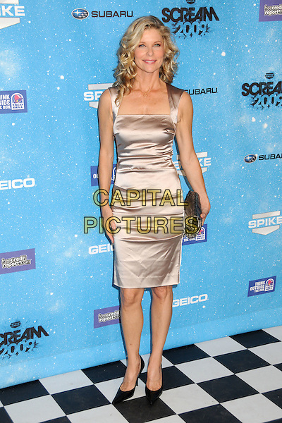 KATE VERNON.Spike TV's Scream 2009 held at the Greek Theatre, Los Angeles, California, USA..October 17th, 2009.full length dress clutch bag silver black  shoes cream beige pink silk satin.CAP/ADM/BP.©Byron Purvis/AdMedia/Capital Pictures.