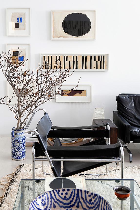 modern black chair
