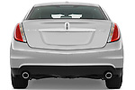 Straight rear view of a 2010 Lincoln MKS FWD