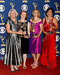 LOS ANGELES, CA. - September 20: Producers Rebecca Eaton, Lisa Osborne, Anne Pivcevic and director Dearbhla Walsh of 'Little Dorrit' pose in the press room at the 61st Primetime Emmy Awards held at the Nokia Theatre on September 20, 2009 in Los Angeles, California.