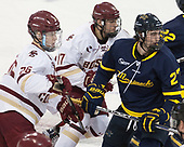 Julius Mattila (BC - 26), David Cotton (BC - 17), Patrick Kramer (Merrimack - 27) - The visiting Merrimack College Warriors defeated the Boston College Eagles 6 - 3 (EN) on Friday, February 10, 2017, at Kelley Rink in Conte Forum in Chestnut Hill, Massachusetts.