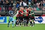 Nederland, Nijmegen, 26 september  2012.Seizoen 2012-2013.KNVB beker.NEC-Feyenoord.NEC scoort de 1-0 eigengoal ..