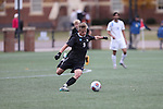 SALEM, VA - DECEMBER 3:Jacob Witte (9) of Calvin College sends the ball up the field during theDivision III Men's Soccer Championship held at Kerr Stadium on December 3, 2016 in Salem, Virginia. Tufts defeated Calvin 1-0 for the national title. (Photo by Kelsey Grant/NCAA Photos)