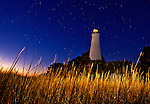 Photographs of the lighthouse against the night sky at the Saint Marks National Wildlife Refuge in Wakulla County Florida  December 20, 2010.