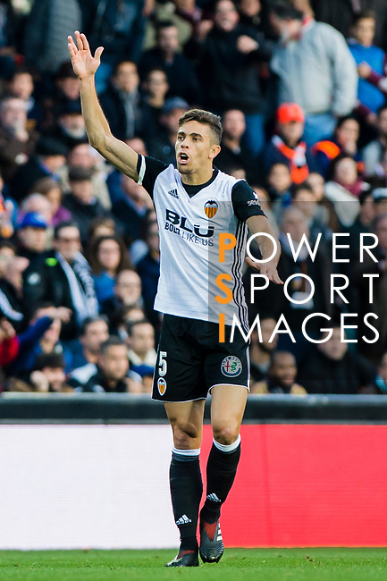 Gabriel Armando De Abreu of Valencia CF gestures during the La Liga 2017-18 match between Valencia CF and Villarreal CF at Estadio de Mestalla on 23 December 2017 in Valencia, Spain. Photo by Maria Jose Segovia Carmona / Power Sport Images