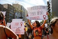 """CURITIBA, PR, 09.07.2016 - PROTESTO-PR - CURITIBA, PR, 09.07.2016 - PROTESTO-RP - Marcha das Vadias na praça 19 de Dezembro, região central de Curitiba (PR) neste sábado, 09. Com o tema """"Vadias contra o Fascismo"""", que denuncia e traz para as ruas a vontade de derrotar o fascismo diário. O movimento, é um ato contra o machismo, a homofobia, a transfobia, racismo e outras formas de opressão na capital e pretende incentivar que as mulheres que sofrem violência sexual denunciem seus agressores. O grupo deve seguir em passeata por diversos pontos do centro de Curitiba. (Foto: Paulo Lisboa / Brazil Photo Press)"""
