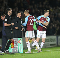 Burnley's Ashley Barnes repaces Burnley's Matej Vydra<br /> <br /> Photographer Mick Walker/CameraSport<br /> <br /> The Carabao Cup Round Three   - Burton Albion  v Burnley - Tuesday  25 September 2018 - Pirelli Stadium - Buron On Trent<br /> <br /> World Copyright © 2018 CameraSport. All rights reserved. 43 Linden Ave. Countesthorpe. Leicester. England. LE8 5PG - Tel: +44 (0) 116 277 4147 - admin@camerasport.com - www.camerasport.com